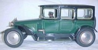 Bing Tin-Oldtimer Limousine #10/4128 green, wind-up toy,...