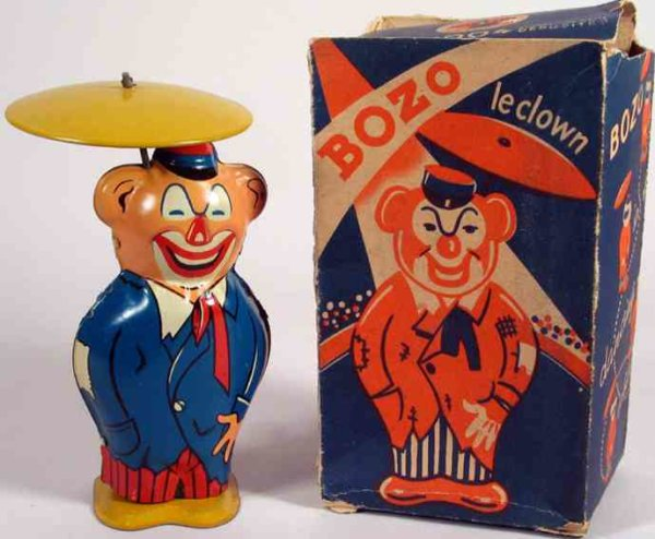 Joustra Clowns Bozo Clown mit Uhrwerk