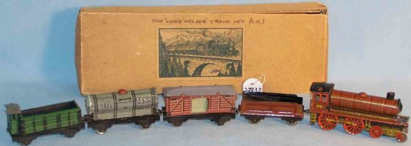 Kellermann Railway-Trains Freight Train Lord Nelson made ??of tin, 5-piece train set