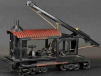 Buddy L Railway-Locomotives Locomotive pile driver #1022...