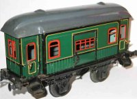 Bing Railway-Passenger Cars Baggage car #10344 with four...