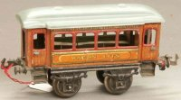 Bing Railway-Passenger Cars Pullman car #10390 with four...