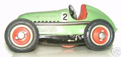 Schuco Tin-Race-Cars Mercedes silver arrow Nr. 2 in the very rare color limegrue