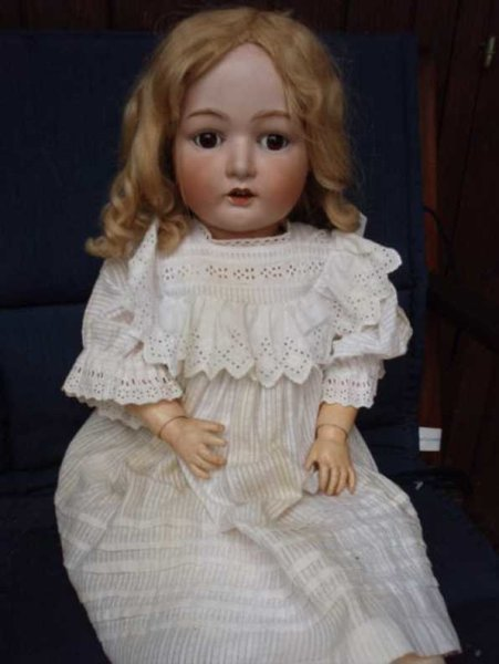 Heubach Gebr. Dolls Porcelain head doll marked with Heubach 10580 in square Germ