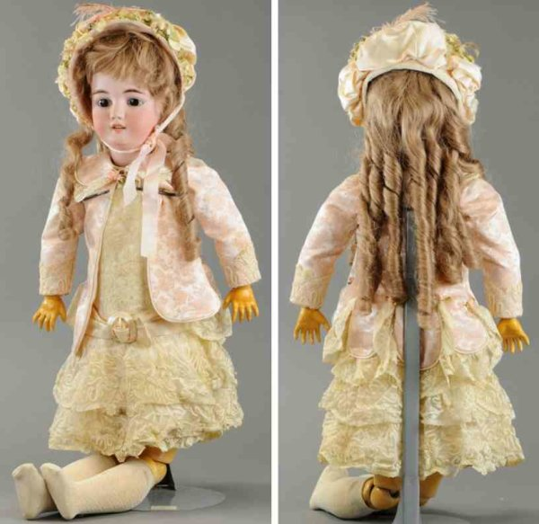 Simon & Halbig Dolls Large child doll, bisque head incised S&H 1079 DEP Germany