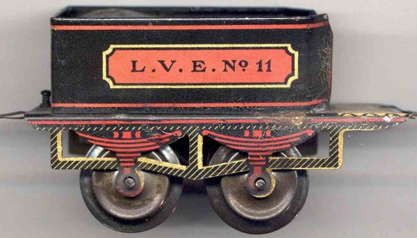 Ives Railway-Tender Tender #11 (1903) lithographed in black, red and golden, let