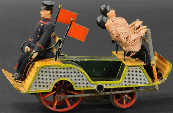 Maerklin Railway-Draisine Hand trolley in many colors hand-coated, with 3 men, lever d