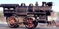Ives Lokomotiven Dampflokomotive 0-4-0 in schwarz,...