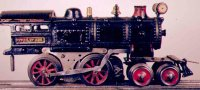 Ives Railway-Locomotives Steam locomotive 4-4-0 in black,...