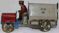 Distler Tin-Penny Toy Truck with large tarpaulin in...