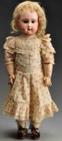 Jumeau Dolls Bisque socket head bébé doll, head with red...