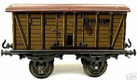 Bing Railway-Freight Wagons Box car #14200 with four...