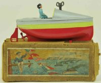 Bing Tin-Ships Speedboat #155/21 with box hand painted...