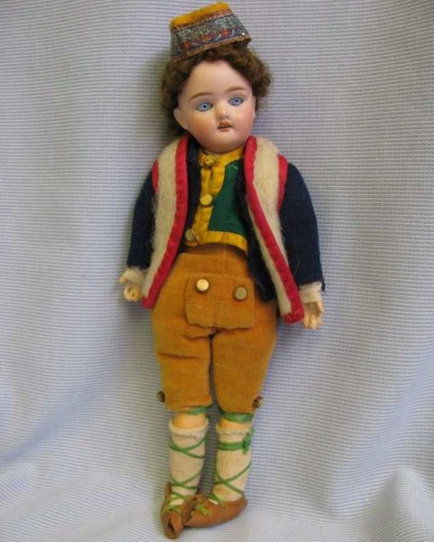 Scherf Paul Dolls Bisque doll boy never undressed with perfect bisque head inc