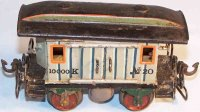 Maerklin Railway-Passenger Cars Baggage car #1823 with...