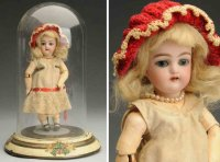 Handwerck Heinrich Dolls Bisque socket head child doll,...
