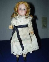 Recknagel Theodor Dolls Porcelain doll with painted...