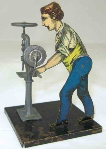 Carette Steam Toys-Drive Models man at a drilling machine