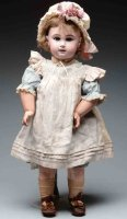 Jumeau Dolls Lovely pale bisque French socket head doll,...