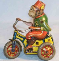 Arnold Tin-Figures Monkey Bobby #200 on tricycle made of...