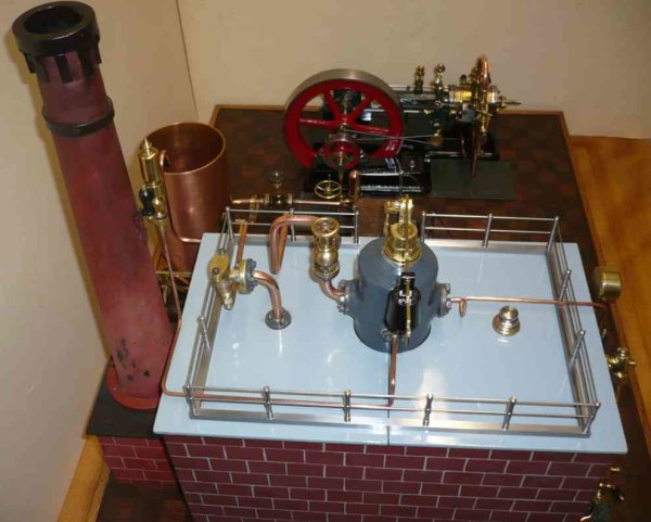 Bischoff Wilhelm Steam Toys-Horizontal Steam Engines Horizontal steam engine on cast foundation N4.