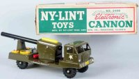 NY-LINT Co Tin-Trucks Pressed steel cannon truck toy,...