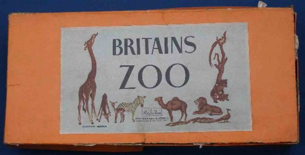 Britains Ltd. Toy Tin-Animals Zoo gift set of lead includes fences, elephant ride, camel r