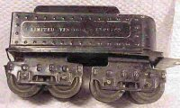 Ives Railway-Tender Tender #25 with eight wheels, made of...