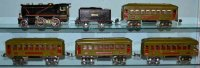 Lionel Railway-Trains Linoel/Ives tranisition tin toy...
