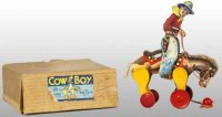 Fisher-Price Wood-Figures Cowboy on horse