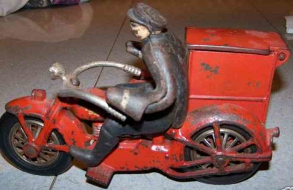 National Sewing Machine Company Tin-Motorcycles The toy is a replica of one of the fastest most high