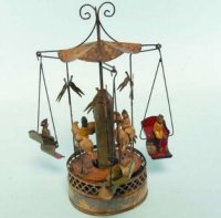 Bing Tin-Carousels Carousel clockwort driven,...