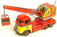 Arnold Tin-Trucks Crane truck with griffin digger and...