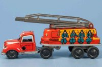 Goeso Tin-Fire-Truck Fire ladder wagon #430-15, made of...