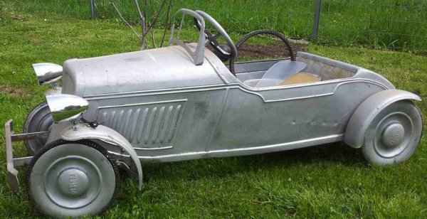 Ferbedo Tin-Oldtimer Sheet stepping-car Wanderer Coupe, in original the car was r