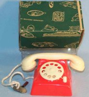 Seidel Michael Tin-Toys Phone from tin and plastic with...