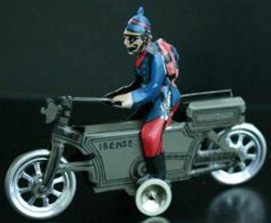 PAYA Military-Vehicles La ibenese tinplate motorcycle, free wheel, lithographed, si