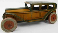Chein Co. Tin-Oldtimer Sedan wind-up toy, Wind fixed key...