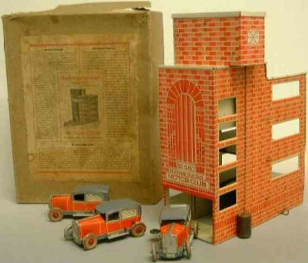 Stock Walter Garages high-rise building  garage as a brick, lithographed with goo