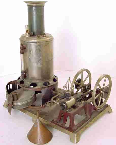 Weeden Steam-Toys-Vertical-Steam-Engines Steam engine with vertical boiler and horizontal engine. Th
