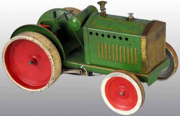 Doll Tin-Tugs/Rollers Live steam traction engine, the engine hood hides a live ste