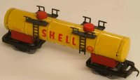 Biller Railway-Freight Wagons Tanker; 4-axis; in yellow,...