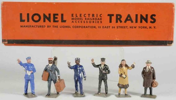Lionel Railway-Figures Miniature railroad figures, pot metal, includes six figures