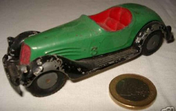 Maerklin Tin-Race-Cars Open sports car in the style of the BMW 327