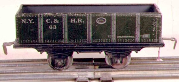 Ives Railway-Freight Wagons Gravel car, in the first years it was cataloged as No. 553.