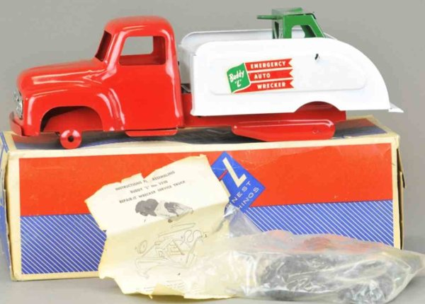 Buddy L Tin-Trucks Auto wrecker with box, No. 5530, comes with all parts, never