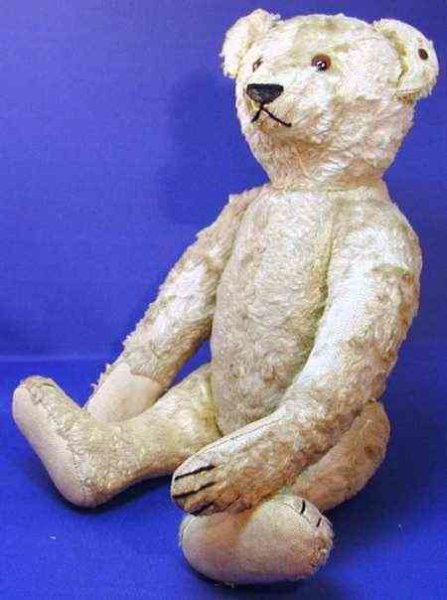 Steiff Baers Teddy silk plush blond (deceased) , movable arms, legs and h