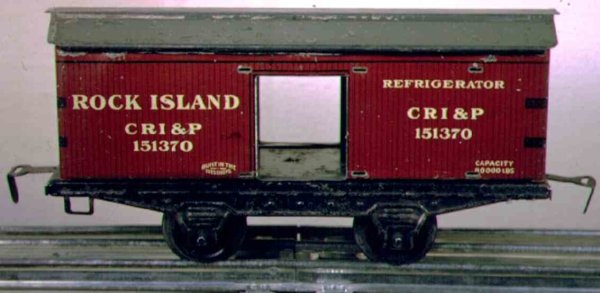 Ives Railway-Freight Wagons Box car, 2-axis, red roof