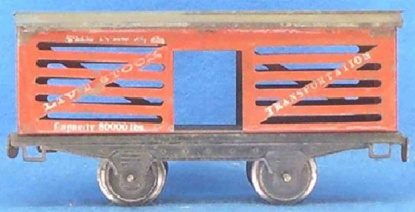 Ives Railway-Freight Wagons Stock car; 2-axis; with type II frame