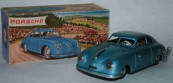 JNF Neuhierl Tin-Cars Porsche 356 with clockwork and knack grip switching. With th